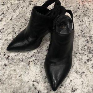 Gianni Bini Black Leather Booties